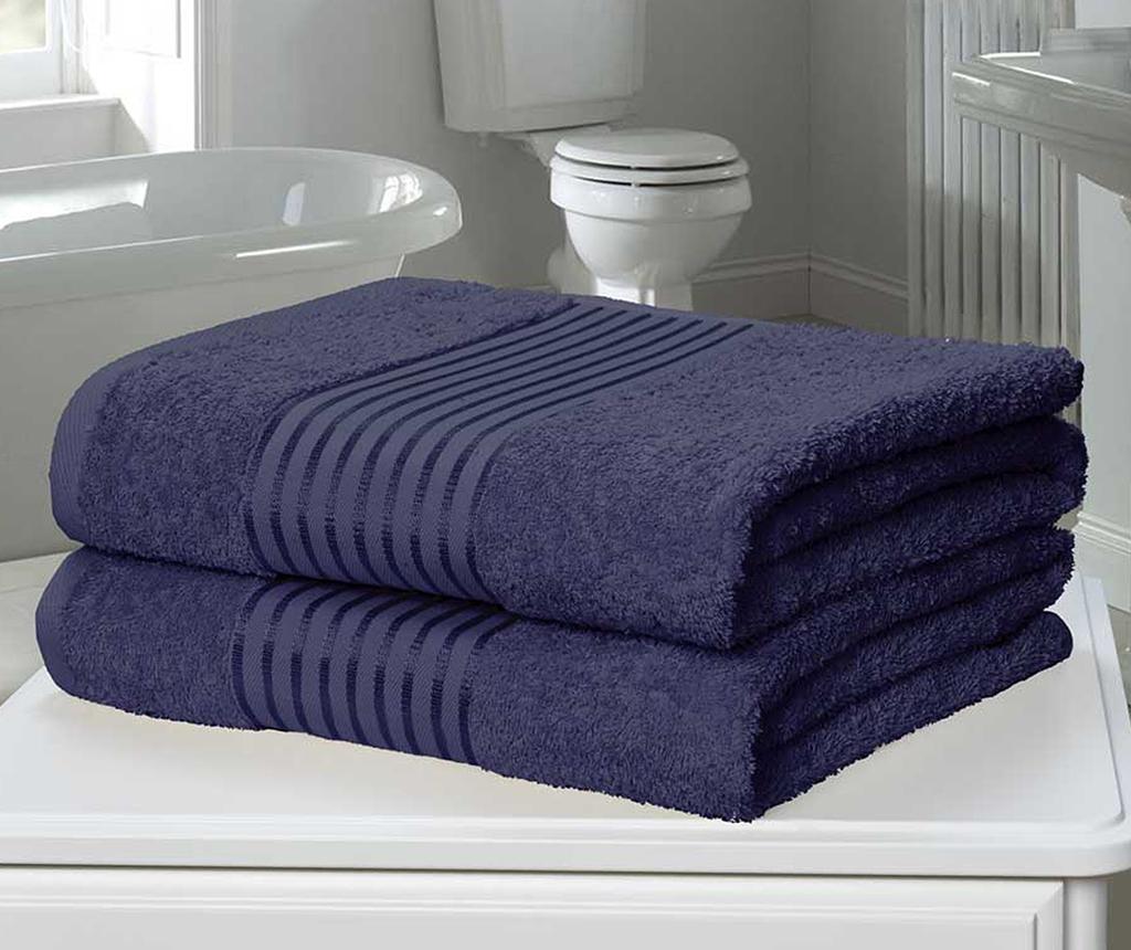 Windsor Denim 2 db Fürdőszobai törölköző 90x140 cm
