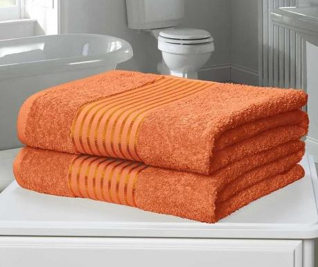 Windsor Orange 2 db Fürdőszobai törölköző 90x140 cm