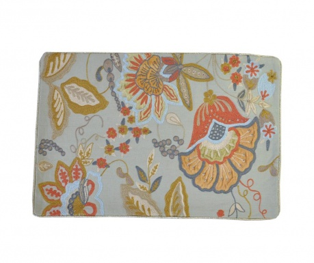 Калъфка за възглавница Velvet Applique Beige Duck egg 30x45 см
