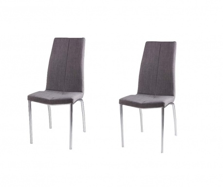 Set 2 scaune Carla Light Grey