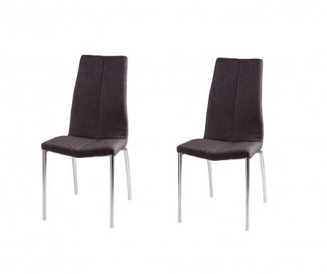 Set 2 scaune Carla Dark Grey