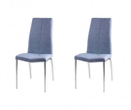 Set 2 scaune Carla Light Blue