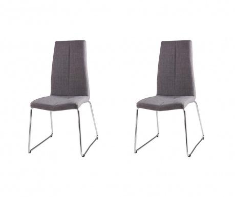 Set 2 scaune Aroa Light Grey