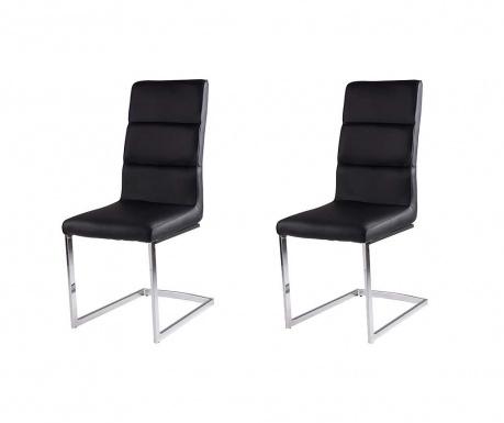 Set 2 scaune Camile Black