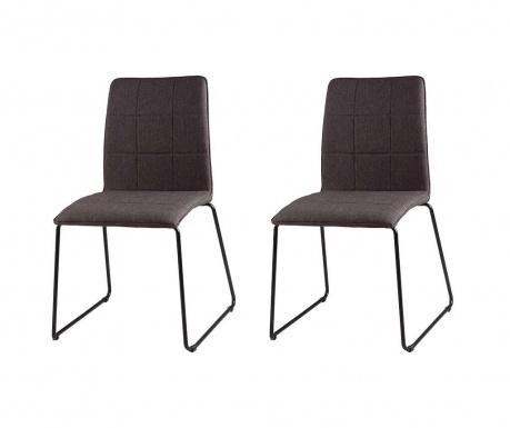 Комплект 2 стола Malina Dark Grey