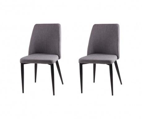 Set 2 scaune Melissa Light Grey