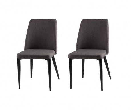 Комплект 2 стола Melissa Dark Grey