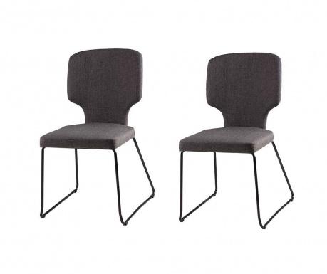 Set 2 scaune Dana Dark Grey