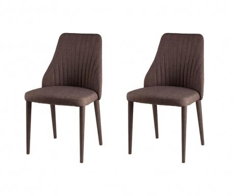 Set 2 scaune Dora Brown