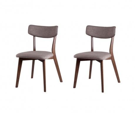 Set 2 scaune Lina Light Grey