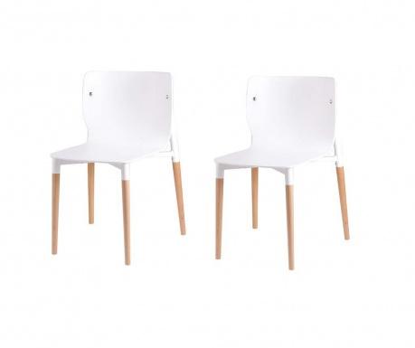 Set 2 scaune Alisia White