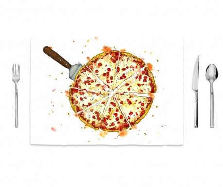 Pizza Pattern Tányéralátét 35x50 cm