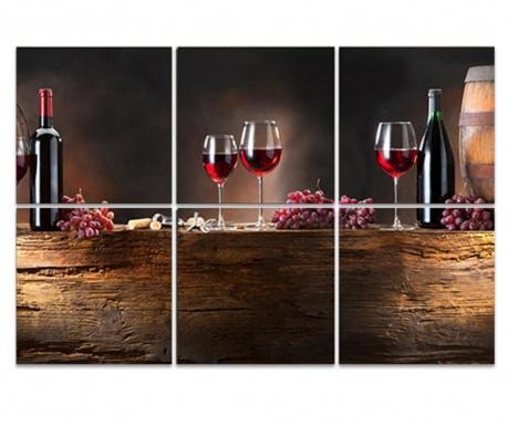 Set 6 slika Wine Barrel 30x30 cm
