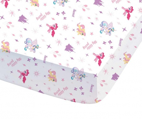 Cearsaf de pat cu elastic My Little Pony Royally 90x190
