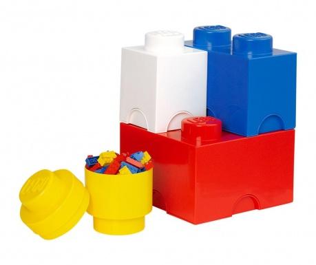 Set 4 kutije za pohranu s poklopcem Lego Mix