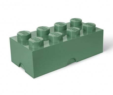 Кутия с капак Lego Rectangular Extra Sand Green