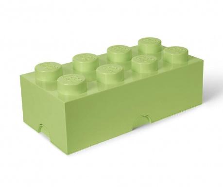 Kutija za pohranu s poklopcem Lego Rectangular Extra Yellowish Green