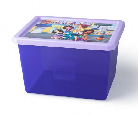 Kutija za pohranu s poklopcem Lego Friends 18 L