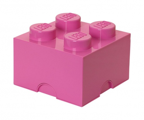 Кутия с капак Lego Square Four Bright Purple
