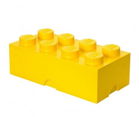 Кутия с капак Lego Rectangular Extra Yellow