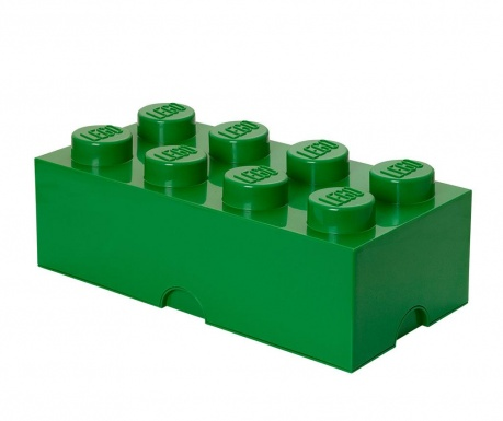 Кутия с капак Lego Rectangular Extra Dark Green
