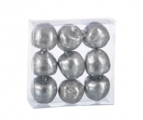 Комплект 9 декорации Silver Apples
