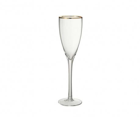 Pohár na šampanské Golden Edge 200 ml