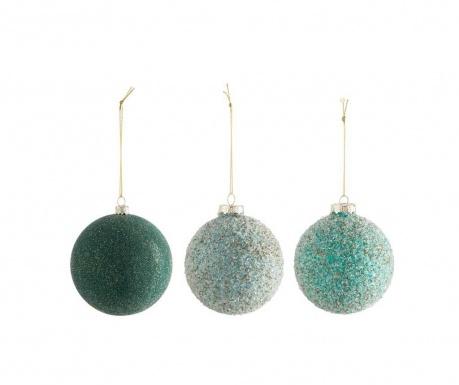 Комплект 3 декоративни топки Xmas Bauble
