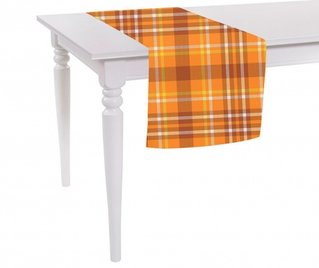 Středový ubrus Orange Checks Plaid 40x140 cm