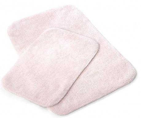 Set 2 covorase de baie Tile Pink