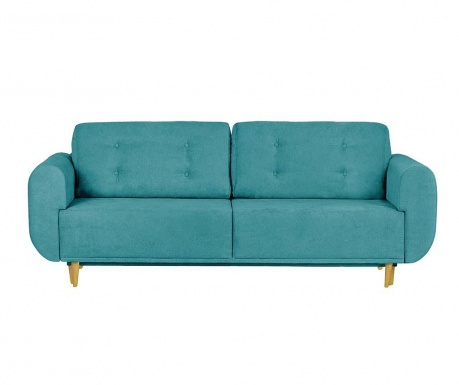 Rozkładana kanapa trzyosobowa Copenhague Turquoise