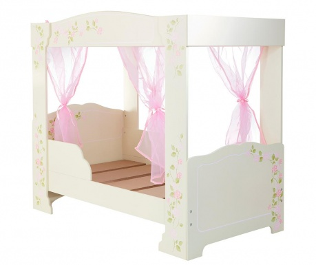 Легло с балдахин Rose 76.5x124 см