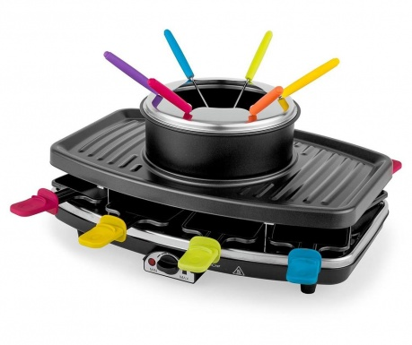 Set grill electric si ustensile pentru fondue Dark and Colorful