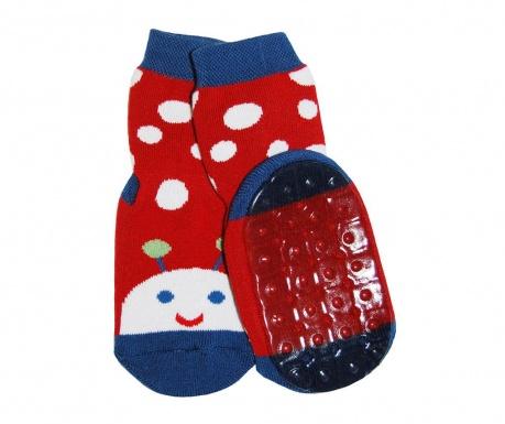 Чорапи с нехлъзгаща се подметка Ladybug Carmin