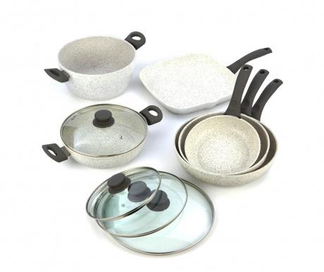 Комплект съдове за готвене 10 части Stonewhite Gray