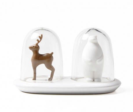 Set solnita si pipernita cu suport Deer and Bear