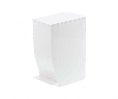 Cos de gunoi cu capac si pedala Olin White 3.9 L