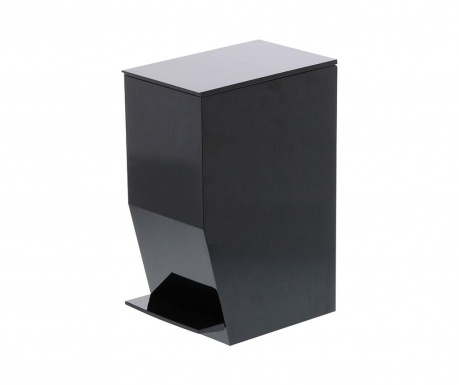 Cos de gunoi cu capac si pedala Olin Black 3.9 L