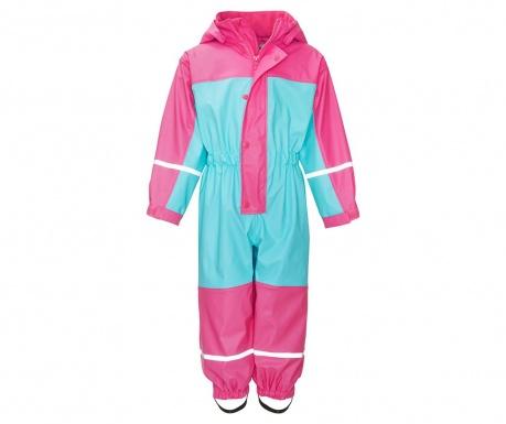 Dječji vodonepropusni kombinezon Colors Turquoise Pink