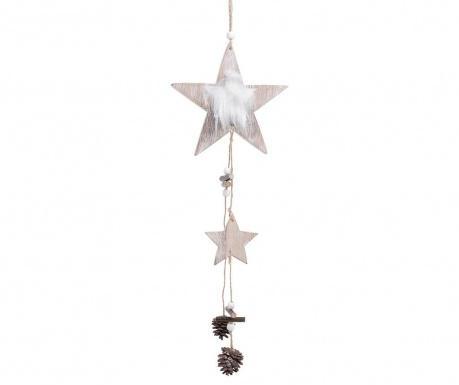 Set 6 decoratiuni suspendabile Star with Pinecones