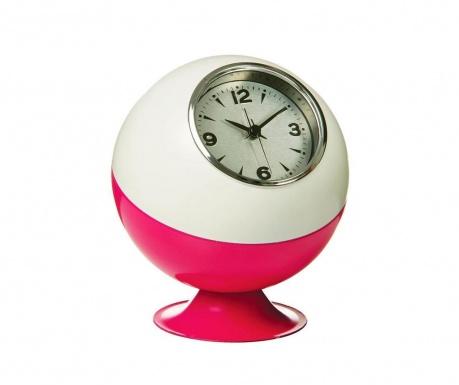 Ceas de masa Retro White Pink