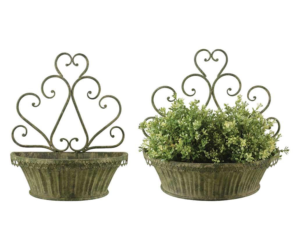 Set 2 jardiniere Bellona - Esschert Design, Verde