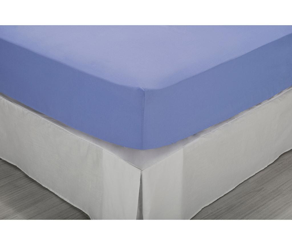 Cearsaf de pat cu elastic Percale Comfort Light Blue 90x190 cm - Pikolin, Albastru