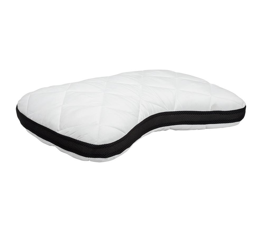 Perna ergonomica Memory Shoulder 40x60 cm - Pikolin, Alb