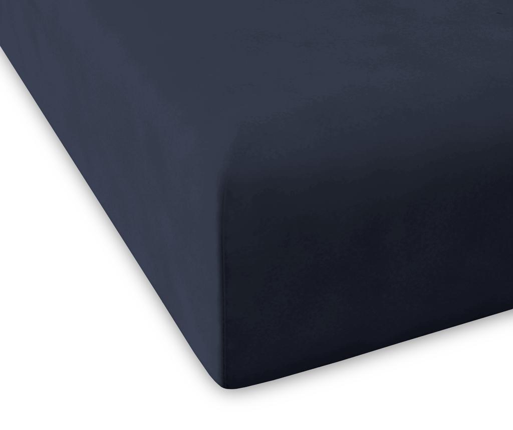 Cearsaf de pat cu elastic Percale Pure Marine 200x200 cm - Guy Laroche Home, Albastru