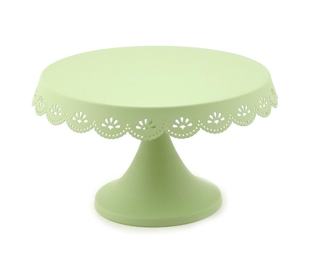 Platou cu picior Special Green - Disraeli, Verde