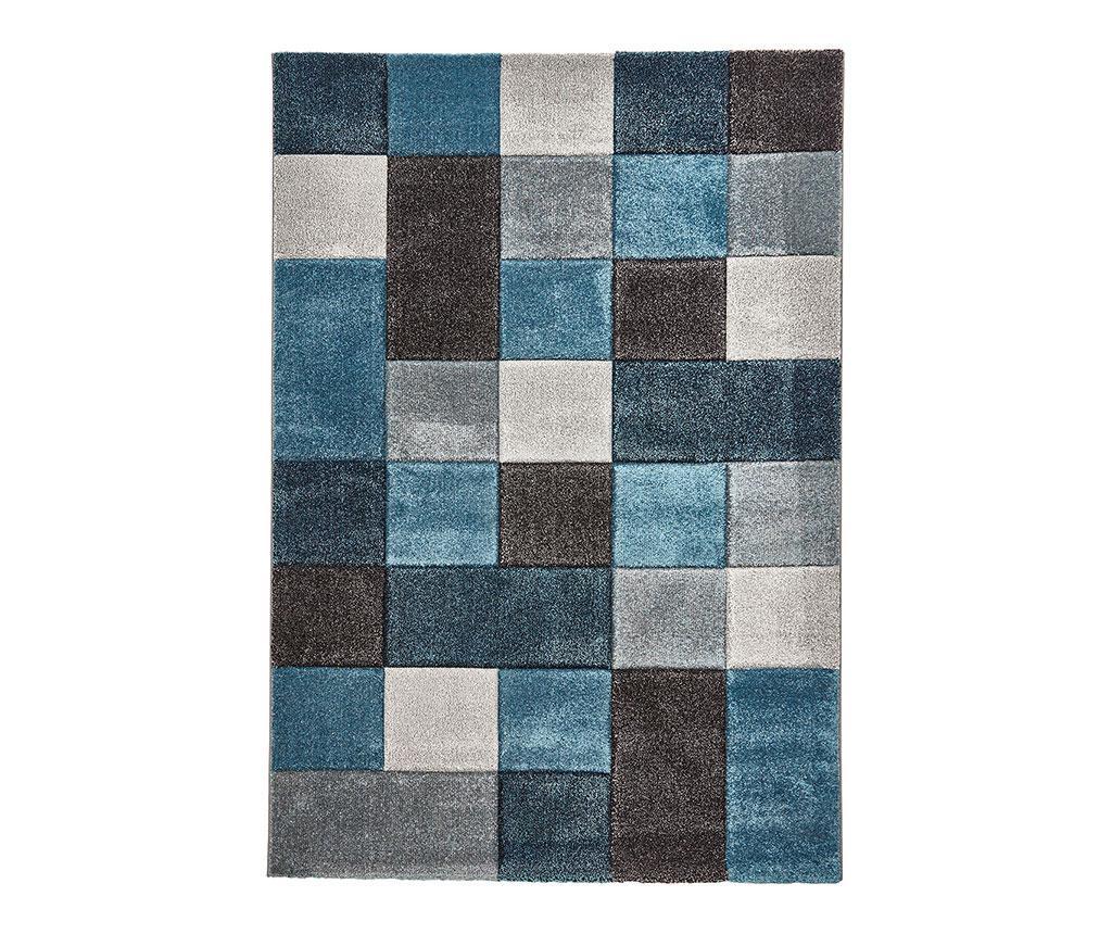 Covor Brooklyn Blue & Grey 160x220 cm - Think Rugs, Albastru