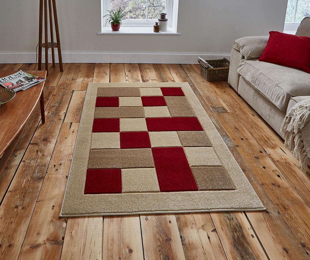Covor Matrix Beige Red 60x120 cm - Think Rugs, Crem