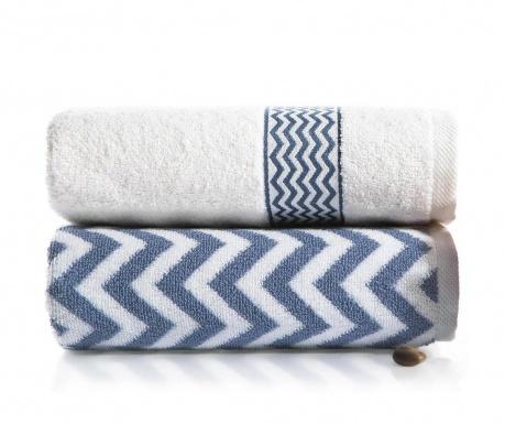 Zestaw 2 ręczników kąpielowych Ella Blue 50x90 cm