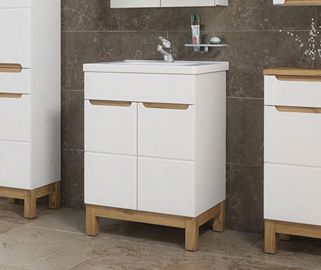 Set ormarić za umivaonik i umivaonik Bali White